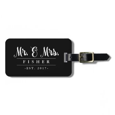 marlenedesigner Elegant Mr. and Mrs. Photo Luggage Tag