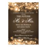Elegant Mr Mrs Couples Shower Gold Sparkle Lights Card
