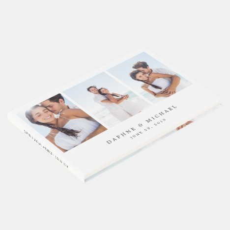 Elegant Multi Photo Wedding Guest Book