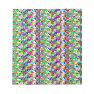 Elegant Multicolor STAR Pattern : Grace n Serenity Memo Notepads