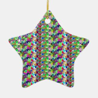 Elegant Multicolor STAR Pattern : Grace n Serenity Christmas Ornaments