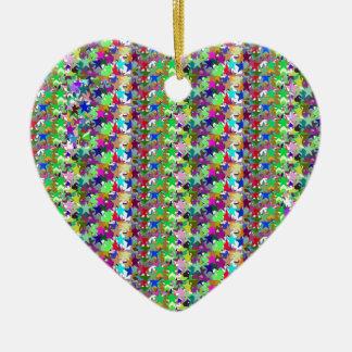 Elegant Multicolor STAR Pattern : Grace n Serenity Ornament
