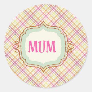Elegant Mum Classic Round Sticker