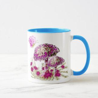 Elegant Mushrooms and Butterflies by AngelArtiste Mug