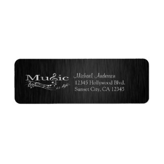 Elegant Music is Life black and silver labels