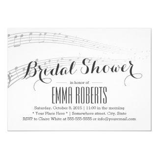 Elegant Music Notes Bridal Shower Invitations