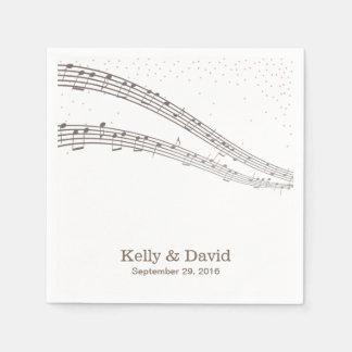 Elegant Music Notes Musical Wedding Paper Napkins