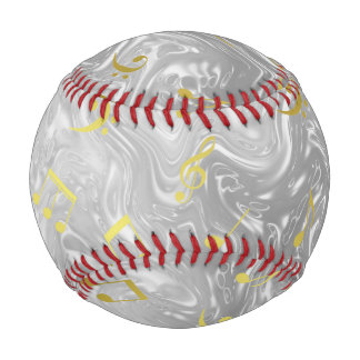 elegant music notes pattern baseball