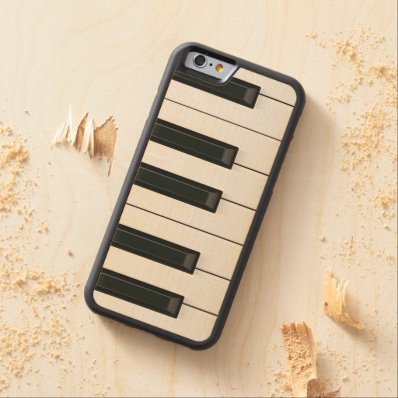 Elegant Music Piano Keys Carved® Maple iPhone 6 Bumper