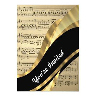 Elegant music sheet card