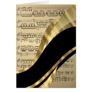 Elegant music sheet card