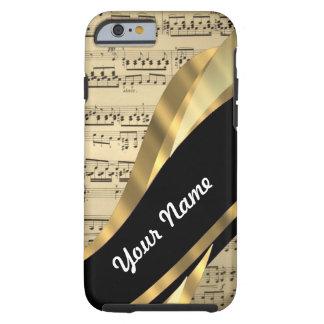 Elegant music sheet tough iPhone 6 case
