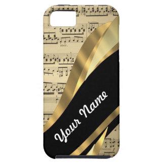 Elegant music sheet iPhone 5 cover