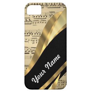 Elegant music sheet iPhone 5 case