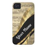 Elegant music sheet Case-Mate iPhone 4 cases