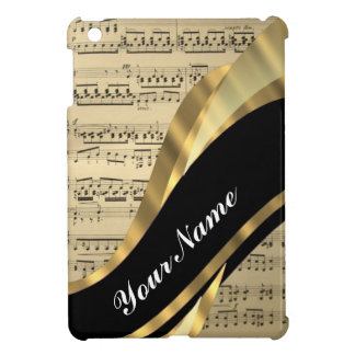 Elegant music sheet iPad mini case