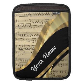 Elegant music sheet sleeves for iPads