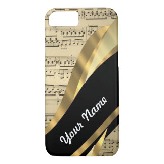 Elegant music sheet iPhone 7 case