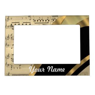 Elegant music sheet magnetic frame