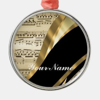 Elegant music sheet metal ornament