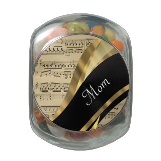 Elegant music sheet mothers day jelly belly candy jars