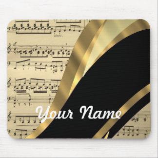 Elegant music sheet mouse pad