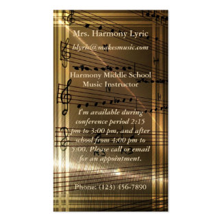 Elegant Music Teacher Haydn Quote Business Card