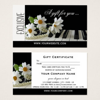 Elegant Music Theme Gift Certificate Template