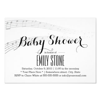 Elegant Musical Baby Shower Card