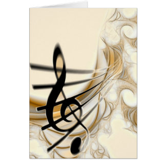 Elegant Musical Note Greeting Card