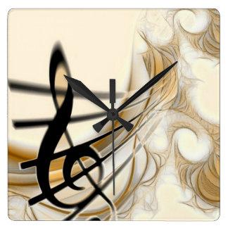 Elegant Musical Note Wall Clocks