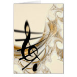 Elegant Musical Note Greeting Cards