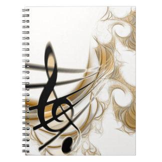 Elegant Musical Note Notebook
