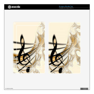 Elegant Musical Note Skins For Kindle Fire