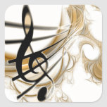 Elegant Musical Note Stickers