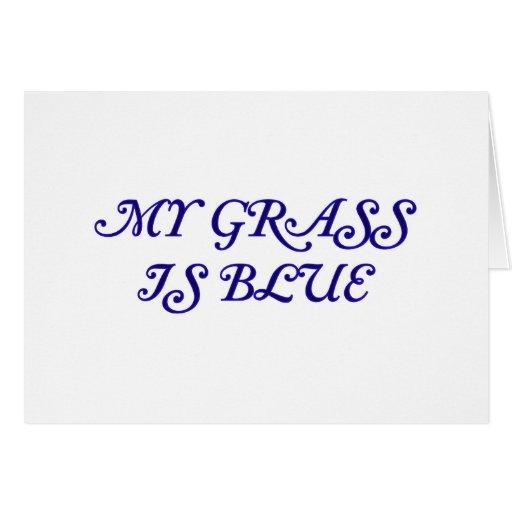 Elegant My Grass Is Blue Card
