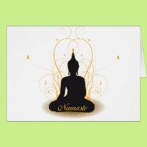 Elegant Namaste Buddha Card