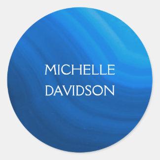 Elegant Name on Blue Agate Sticker