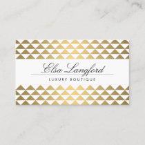 Elegant Name on Gold Prism Pattern Business Card