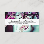 """ELEGANT NAME with CHERRY BLOSSOMS Business Card<br><div class=""""desc"""">An elegant type treatment for your name or business name overlaid on top of a photo of cherry blossoms. Contact the designer if you need special type-setting for longer names or different layouts. Design &#169; 1201AM CREATIVE</div>"""