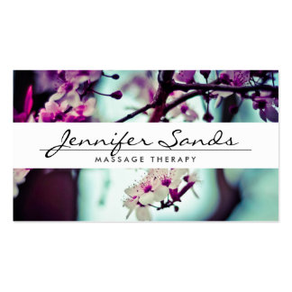 ELEGANT NAME with CHERRY BLOSSOMS Business Card Pack Of Standard Business Cards