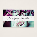 "ELEGANT NAME with CHERRY BLOSSOMS Business Card<br><div class=""desc"">An elegant type treatment for your name or business name overlaid on top of a photo of cherry blossoms. Contact the designer if you need special type-setting for longer names or different layouts. Design &#169; 1201AM CREATIVE</div>"