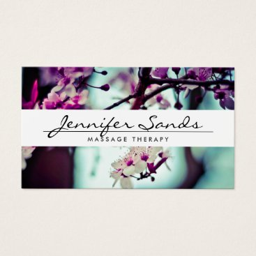 Professional Business ELEGANT NAME with CHERRY BLOSSOMS Business Card