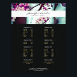 """ELEGANT NAME with CHERRY BLOSSOMS Flyer<br><div class=""""desc"""">Coordinates with the ELEGANT NAME with CHERRY BLOSSOMS Business Card Template by 1201AM. An elegant type treatment for your name or business name overlaid on top of a photo of cherry blossoms on this customizable flyer template. Great to use for service menus, price lists, promotional flyers, or fold accordion-style for...</div>"""
