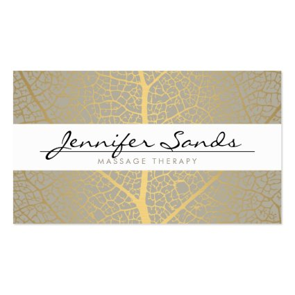 ELEGANT NAME with GOLD TREE PATTERN Business Card Templates