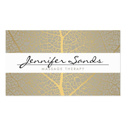 ELEGANT NAME with GOLD TREE PATTERN Business Card Templates (front side)