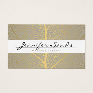 Massage therapy business cards templates zazzle elegant name with gold tree pattern business card colourmoves