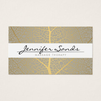 ELEGANT NAME with GOLD TREE PATTERN Business Card