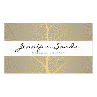 ELEGANT NAME with GOLD TREE PATTERN Double-Sided Standard Business Cards (Pack Of 100)