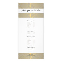 ELEGANT NAME with GOLD TREE PATTERN Rack Card